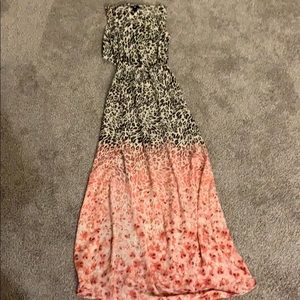 H&M leopard maxi dress
